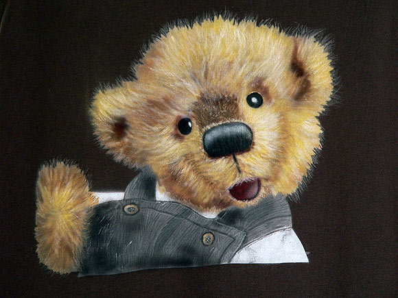 airbrush portrait teddy bo